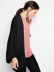 Black Viscose Kimono  Black