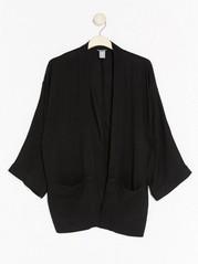 Černé kimono zviskózy Černá