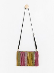 Multi-coloured Jacquard-weave Bag  Yellow