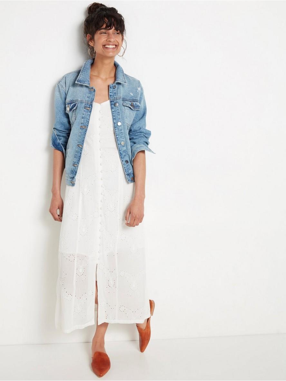 Vit hålbroderad klänning  Vit
