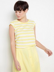 Cotton top with cap sleeves  Yellow