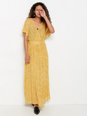 Yellow Maxi Dress with Gold Coloured Details  Yellow