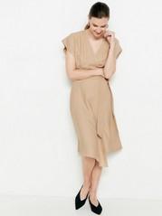 Beige wrap dress  Beige