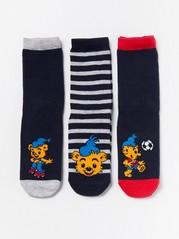 Bamse-sukat liukuestepohjilla, 3 paria Sininen