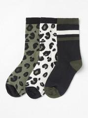 Sada 3párů ponožek Kaki