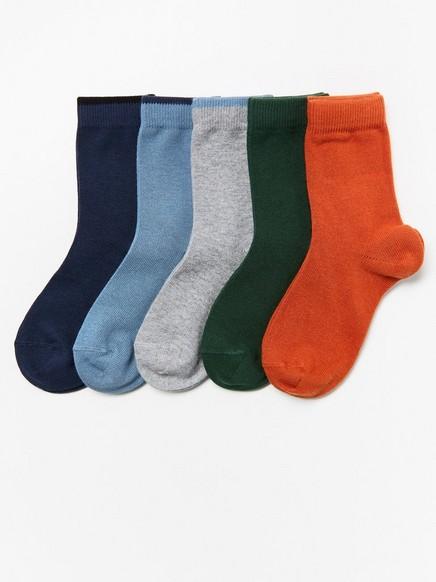 5-pakning med sokker Grønn