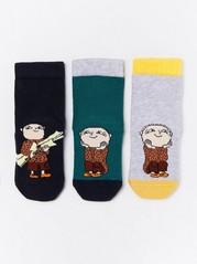 3-pakning med sokker med antiskli med Albert Åberg-motiv Turkis