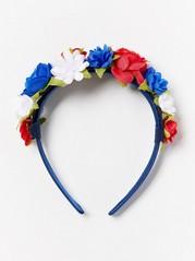 Diadem med blommor Blå