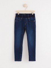 Kapeat pull-on farkut denimtrikoota Sininen
