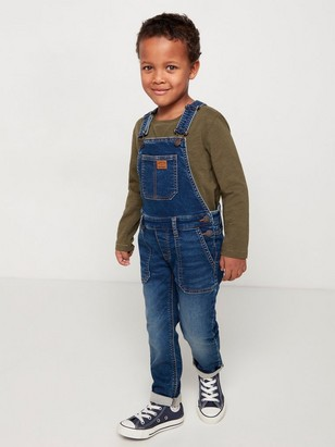 Blue dungarees in denim jersey Blue