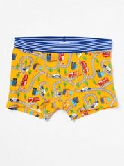 Boxer Shorts with Traffic Pattern Yellow