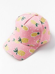 Cap with Pineapples Pink