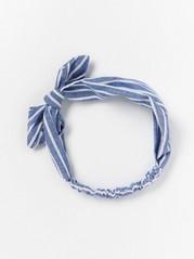 Headband with Bow  Blue