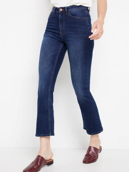 Tmavě modré džíny Modrá