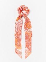 Orange Scrunchie with Scarf  Orange
