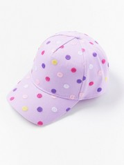 Cap with Dots Lilac