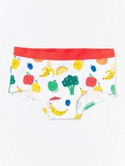 Briefs with fruit pattern White