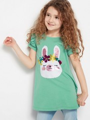 Tunic with Rabbit Green