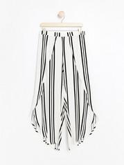 Striped beach trousers  Black