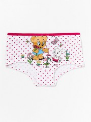 Briefs with hearts and Bamse print Red