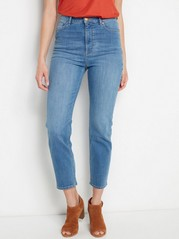 Cropped High Waist Jeans  Blue