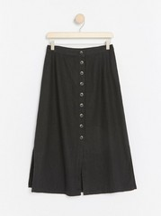 Black linen blend skirt  Black
