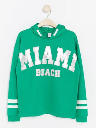 Hoodie with Print Green