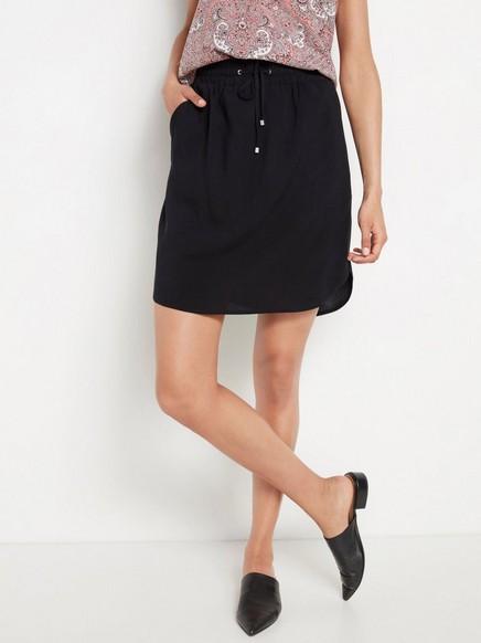 Krátká černá sukně Černá