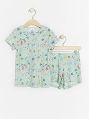 Pyjamas with floral print Green