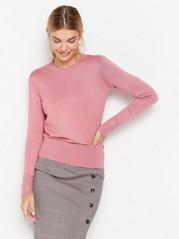 Jemně pletený svetřík Růžová