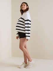 MOM Black Viscose Shorts  Black