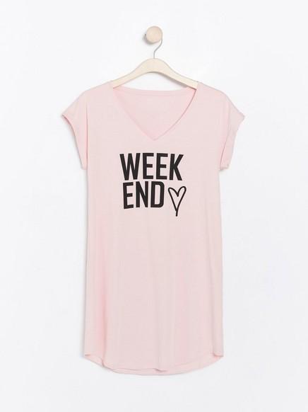 Růžová noční košile Růžová
