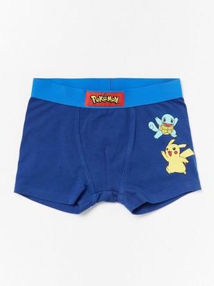 Blue boxer shorts with Pokémon print Blue