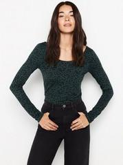 Long sleeve top in lyocell blend  Green