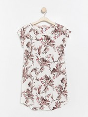 Floral night dress  White