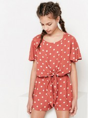 Jumpsuit with Dots Beige