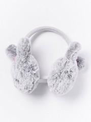 Korvanlämmittimet, joissa turkisjäljitelmäpuput Harmaa