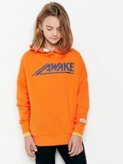 Oversize Sweater with Hood Orange
