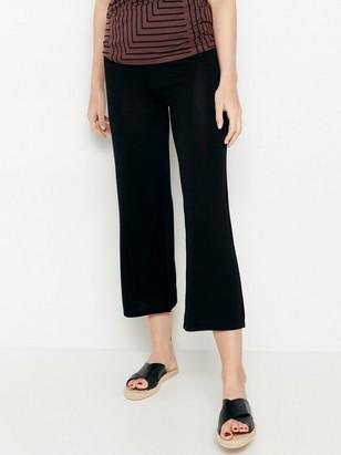 Úpletové černé kalhoty ze směsi lyocellu Černá