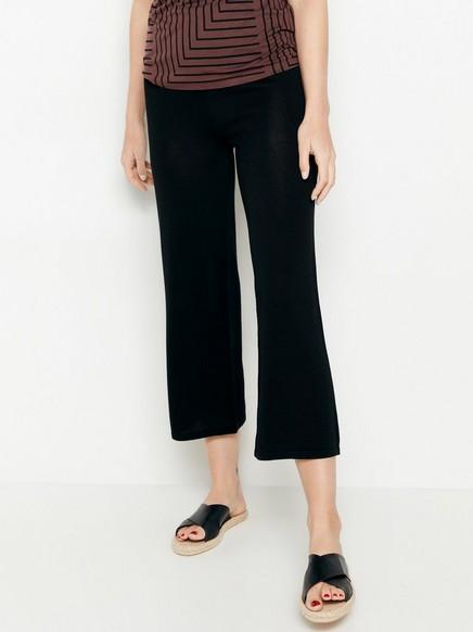 Strikket svart bukse i lyocellblanding Svart