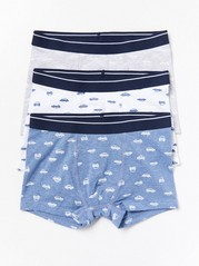 3-pack Boxer Briefs with Cars Blue