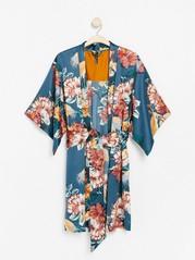 Kuviollinen kimono Turkoosi