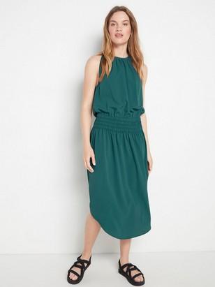 Zelené šaty bez rukávů Modrá
