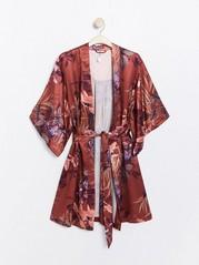 Vzorované kimono Červená