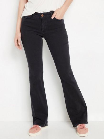 Svart KAREN-jeans med sleng Svart
