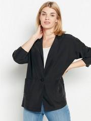 Black modal blend blazer  Black