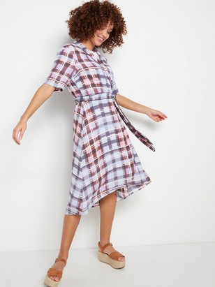 Viscose Wrap Dress  Lilac