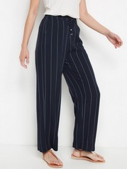 BELLA - Navy Blue Relaxed Trousers  Blue