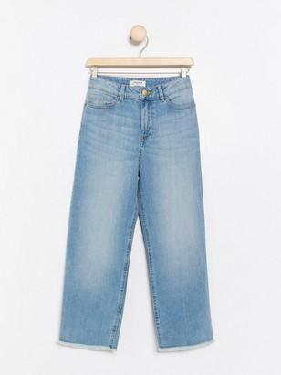Světle modré široké džíny Modrá