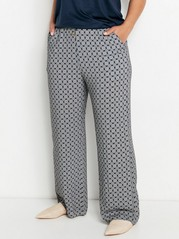 BELLA - Relaxed Trousers in Viscose  Blue